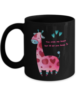"Romantic Gift Coffee Mug You Stole My Heart I""ll Let You Keep Giraffe Bl... - $22.49+"