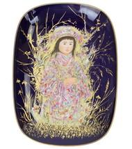 Edna Hibel Takara Colbalt Background Rosenthal Germany Arte Oval Collect... - $257.13