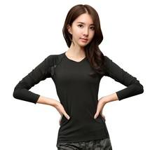 Inner Layer Fitness Sport Shirt Quick Dry Women long Sleeves Top Gym jog... - $16.50