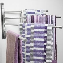 Swivel Towel Rack - Stainless Steel Swing Out Towel Bar - Space Saving S... - $47.09