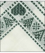 "Green White Tannenbaum Afghan  52% cotton 48% rayon 18ct 56""x39"" Zweigart  - $63.00"