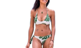 Women's Sexy Leaf Printing Two Pieces Bikini Set - $19.99