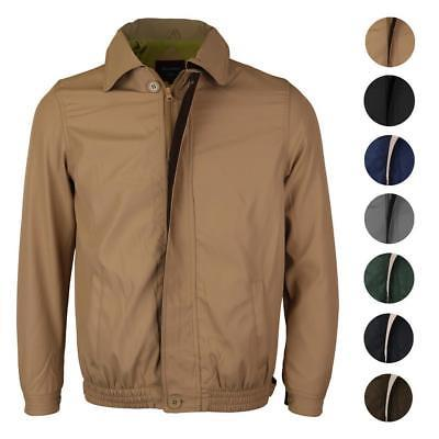 Men's Golf Sport Microfiber Water Resistant Zip Up Windbreaker Jacket BENNY