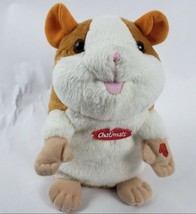 "Chatimals Talking Hamster 8"" Plush Brown White Repeats What You Say Test... - $25.40"