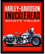 Harley-Davidson Knucklehead Motorcycle Vintage Advertising Poster Reprod... - $32.99+