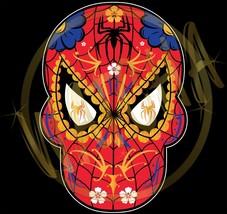 Spider Man Dia De Los Muertos Sugar Skull W/Gold Spider Image Men's T-Sh... - $20.78+