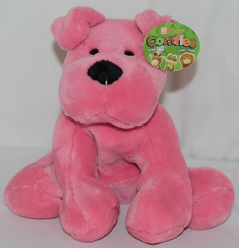 Fiesta Brand Comfies Collection A52862 Hot Colors Pink Plush Puppy Dog