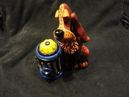 character collectible winchester holding fire hydrant votive  holder NIB - $99.00