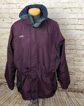 Columbia Jacket Shell Long's Peak Hooded Purple Women's Size Medium - $20.33