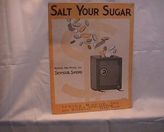 Salt Your Sugar Vintage Sheet Music