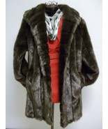 Dennis Basso Dark Brown Beautiful Faux Fur Sz Large - $124.00
