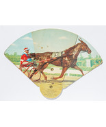 Horse Racing Theme, portable fan with advertising, Maple City Insulation... - $12.50