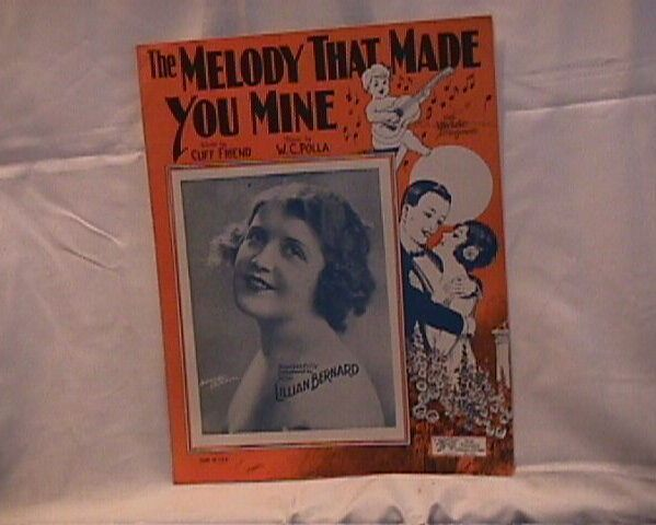 The Melody That Made You Mine Vintage 1925 Sheet Music