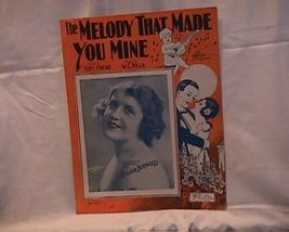 The Melody That Made You Mine Vintage 1925 Sheet Music - $7.00