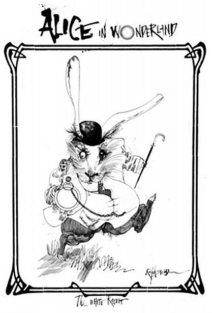 Alice in wonderland white rabbit steadman