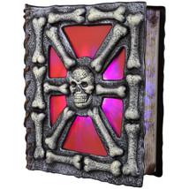 Holiday Living Musical Skull Spell Book Flickering Color Changing LED Li... - $31.99