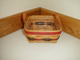 Longaberger Small Berry Branch Award Basket W Plastic Protector Signed by Tami - $49.45