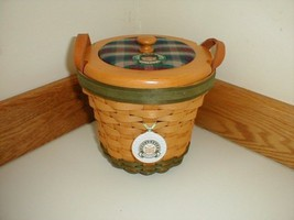 Longaberger 2000 Golf Basket Combo Signed Larry & Mary New Mint Condition - $79.15