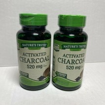 Nature's Way Activated Charcoal 520mg 90 Capsules Each Lot of 2 11/2021 - $14.84