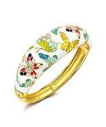 QIANSE Bracelets for Women Spring of Versailles Yellow Gold Bangle Brace... - $24.08