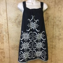Forever 21 Twenty One Sleeveless dress Small Black White Embroider Lined... - $238,52 MXN