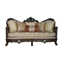 39 X 85 X 49 Fabric Dark Walnut Upholstery Wood Leg/Trim Sofa w/6 Pillows - $1,794.30