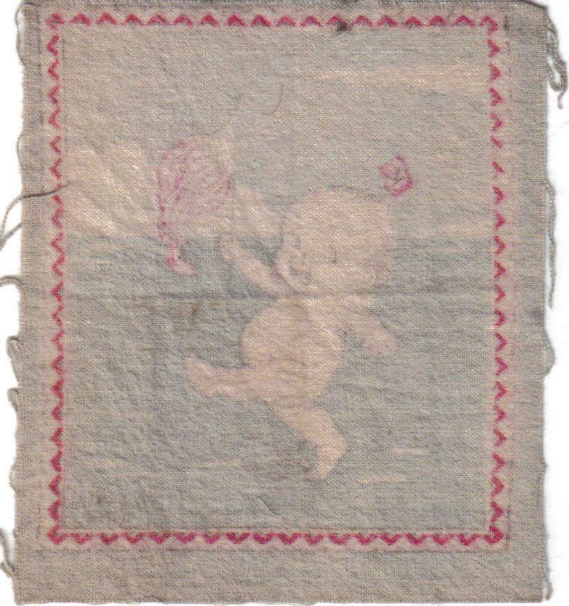 Vintage O'Neill Kewpie  Doll Tobacco Flannel-Felt - Flag