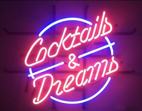 """New Cocktails And Dreams Beer Bar Pub Neon Sign 24""""x20"""" Ship From USA"""