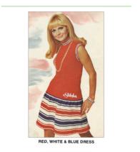 1960s Sleeveless Mini Dress with Ribbing Mod - Knit pattern (PDF 7144) - $3.75