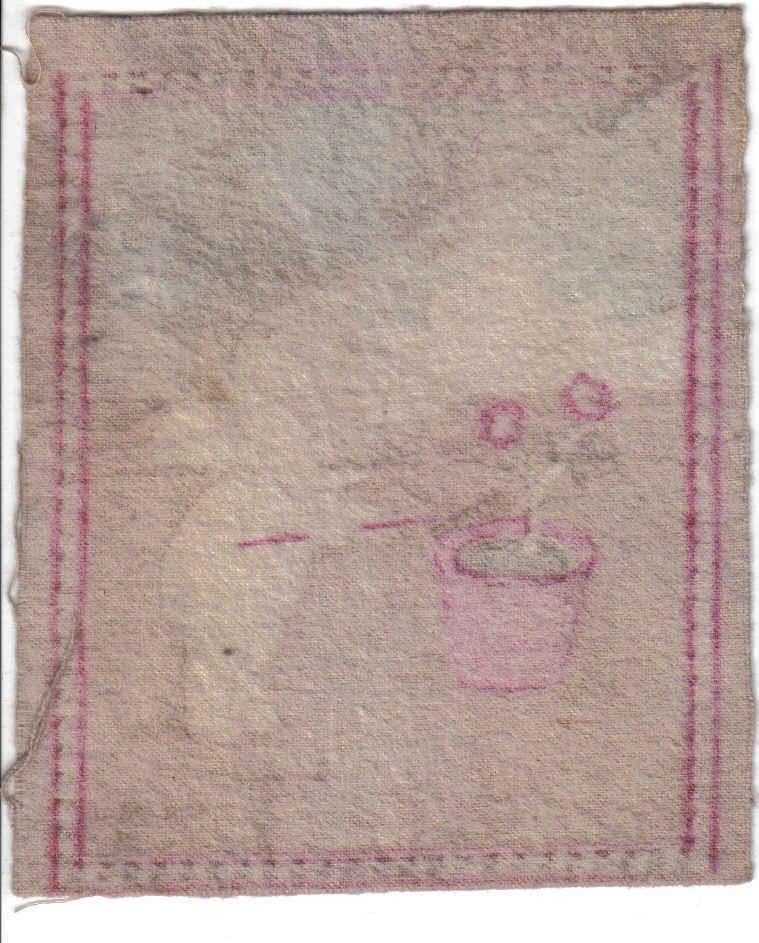 Vintage O'Neill Kewpie Doll Tobacco Flannel- Felt - Flower P