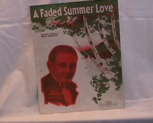 A faded Summer love Vintage Sheet Music