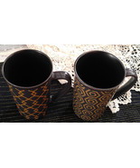 "Mikasa Pair of Two 16 oz. Stoneware Mugs in the ""Vintage Slate"" Design - $5.99"