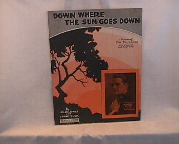 Down Where the Sun Goes Down Vintage Sheet Music