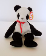 """TY BEANIE BABY - """"Fortune"""" PANDA BEAR - 1ST EDITION - RETIRED - MINT - 1998 - $2.95"""
