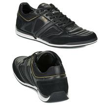 Hugo Boss Men's Premium Sport Leather Sneakers Shoes Saturn Lowp Strf