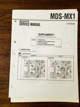Sony MDS-MX1 MD Mini Disc Service Manual Supplement *Original* - $18.54