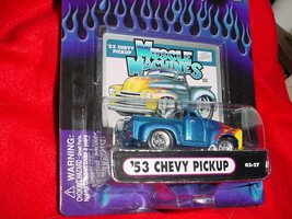 Muscle Machines '53 Chevy Pickup Blue Flamed 02-27 Mip Free Usa Shipping - $11.29