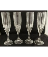 Mikasa Crystal Park Lane 5 Fluted Champagne Glasses Hand Blown - $92.57