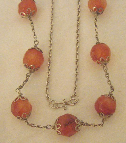 CARNELIAN & STERLING NECKLACE