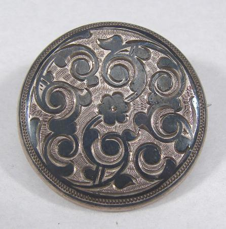 ANTIQUE RUSSIAN NIELLO PIN