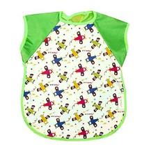 Summer Cotton Waterproof Short Sleeved Bib Baby Feeding Smock PLANES, 3-5 Years image 2