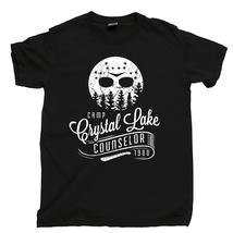 Camp Crystal Lake Counselor T Shirt, Friday The 13th TGIF Men's Cotton Tee Shirt - $13.99+