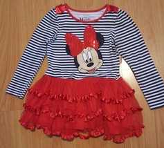Disney Pink Minnie Mouse Nightshirt Nightgown Bows Medium 7 8 NWT Clubhouse