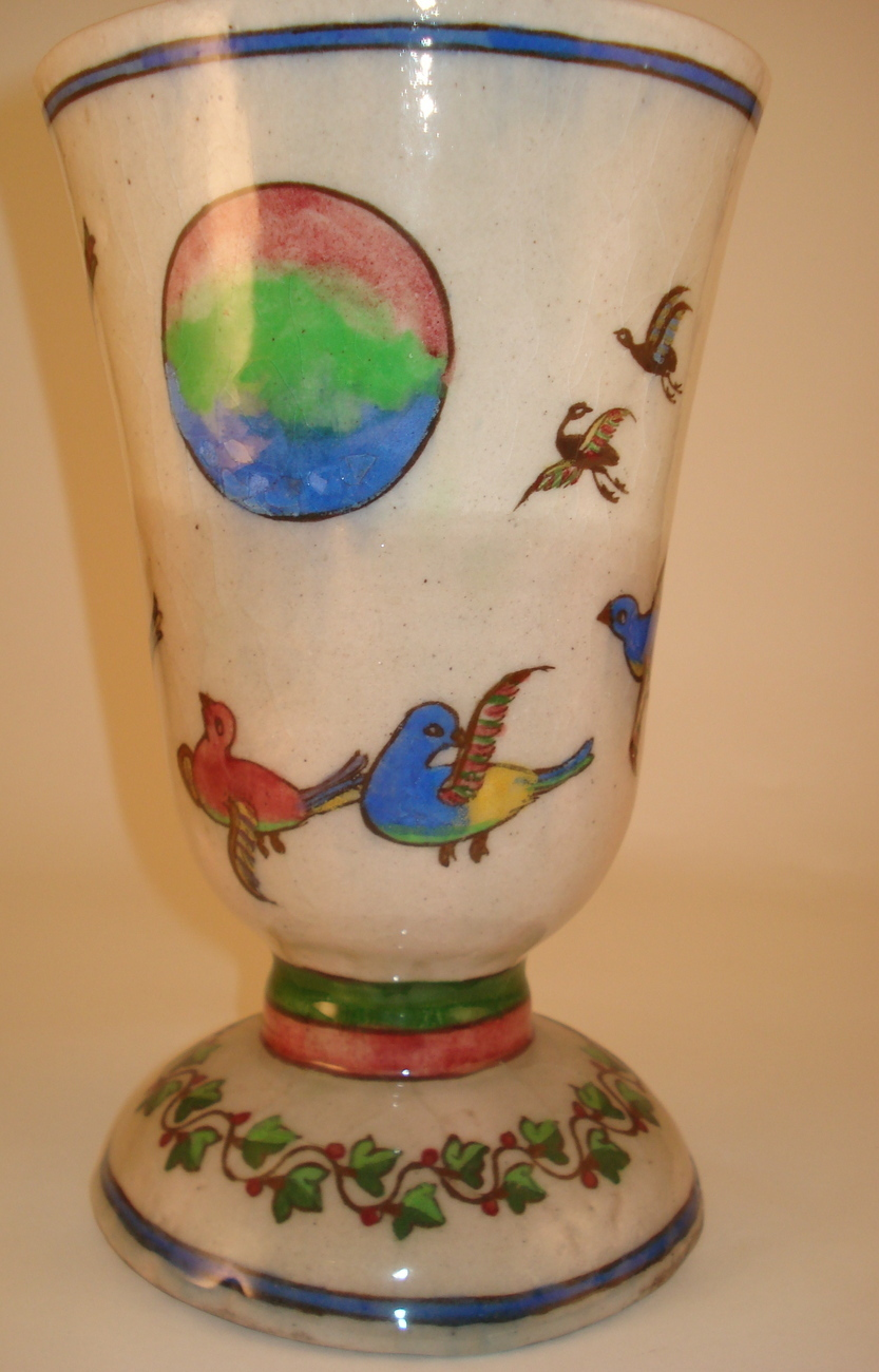 old glazed vase made in Iran