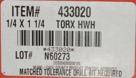 Hilti 433020 KwikCon II PLUS 1/4x1-1/4 ZincPlated Carbon Steel Torx HexHead 100p image 5