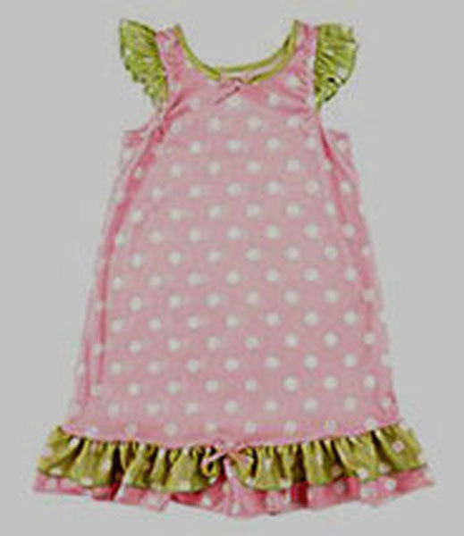 Laura Dare Girls Polka-Dot Gown