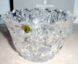 "Waterford Sara Crystal Flared Bowl 7"" Scalloped Top #40016214 New in Box - $149.90"
