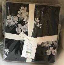 Pottery Barn Lydia Duvet Cover Set Black King 2 Standard Shams Floral New - $188.00