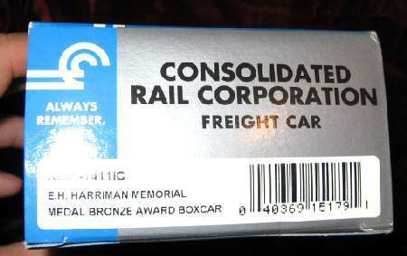 K-Line K641-1411 IC Conrail Harriman Mem Freight Car Train