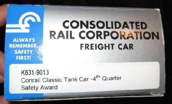 K-Line K631-9013 Conrail CR 4th Qt Tank Car Freight Train